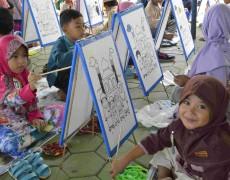 156 Anak PAUD dan TK Ramaikan Lomba Mewarnai